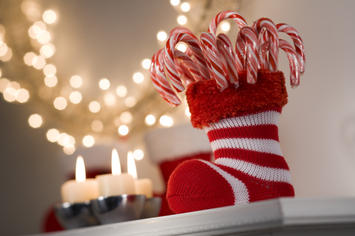 Calcet n tradicional de navidad adornos de navidad para - Calcetin de navidad ...