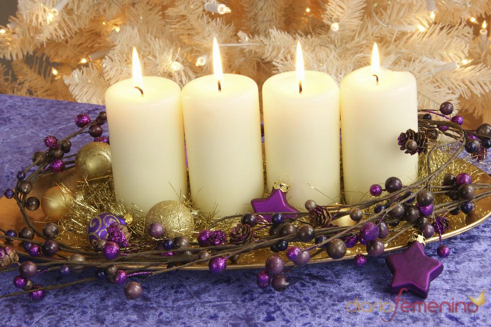 Centro de mesa navide o con velas for Centros de mesa navidenos elegantes