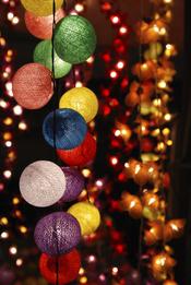 Luces colgantes de navidad