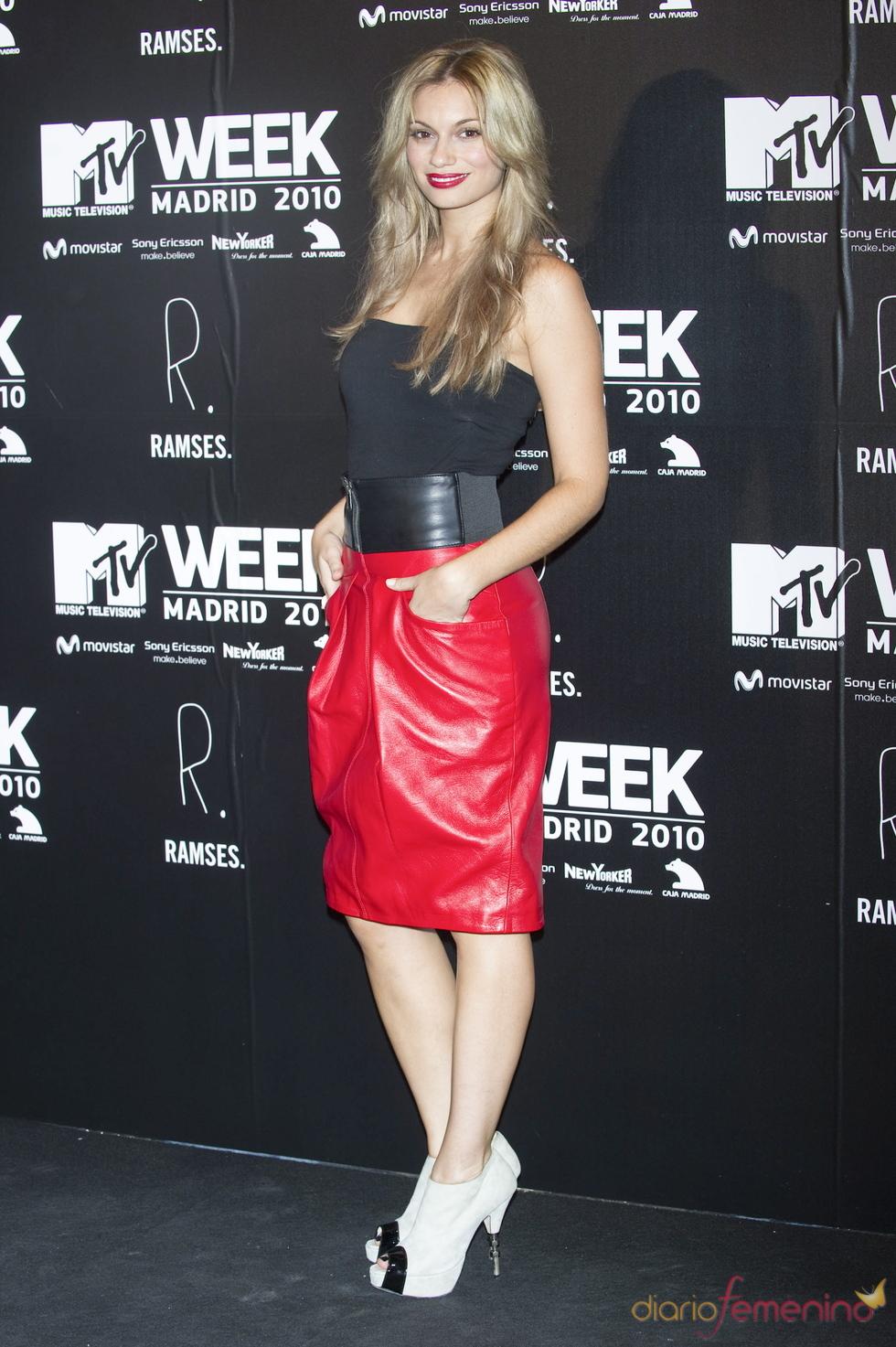 Norma Ruiz en la fiesta de la MTV 2010