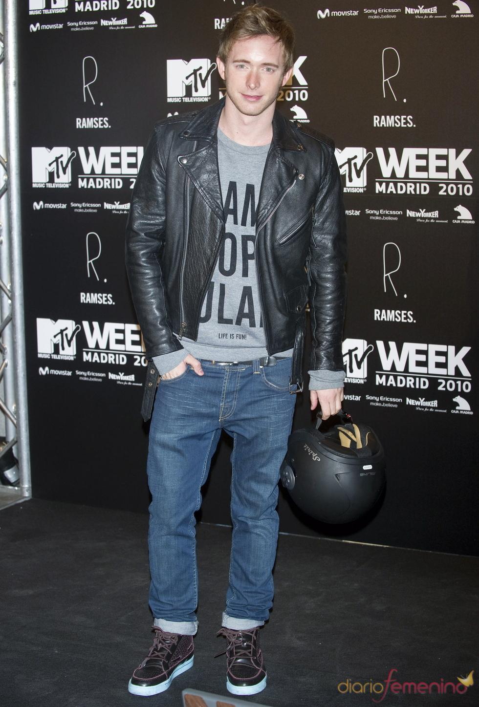 Pablo Rivero en la fiesta de la MTV 2010