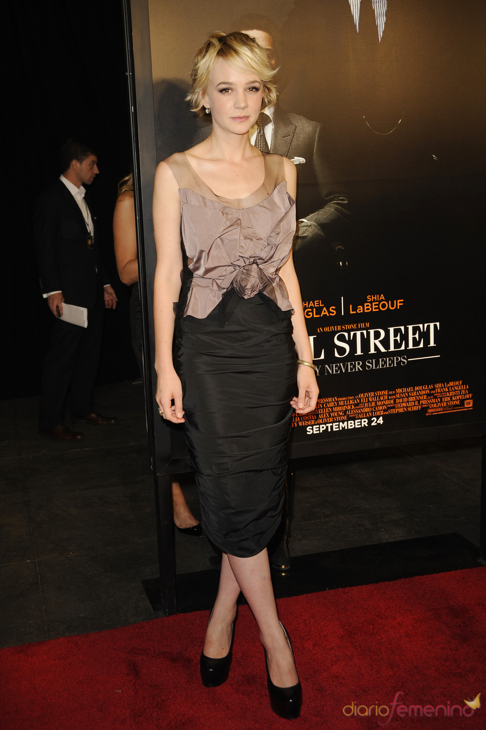Carey Mulligan en la presentación de 'Wall Street 2'