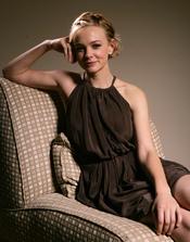 Carey Mulligan posando en una foto retrato