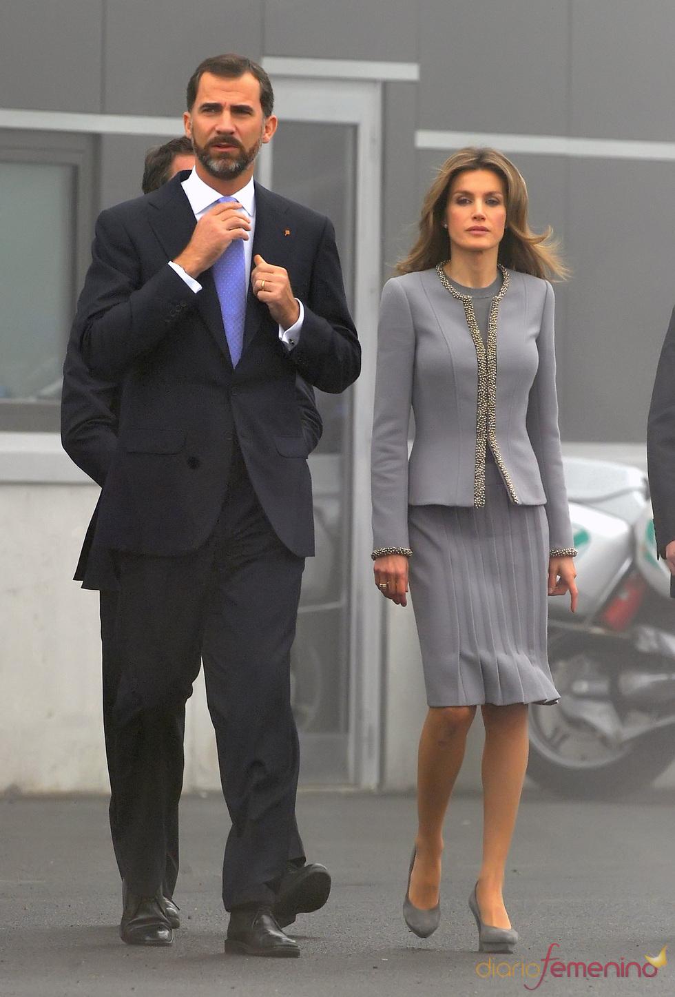 Felipe de Borbón y Letizia Ortiz en Santiago de Compostela