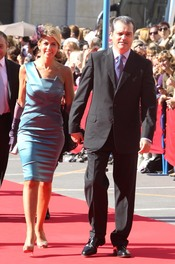 Ramón García y su mujer en la boda de José María Manzanares hijo y Rocío Escalona