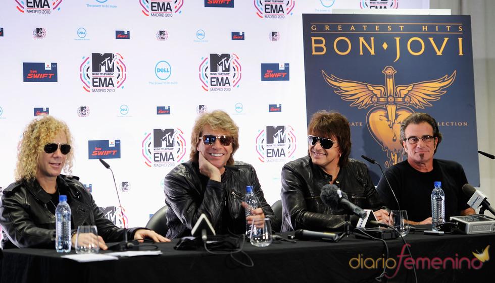Jon Bon Jovi durante una ruedad de prensa en la Caja Mágica