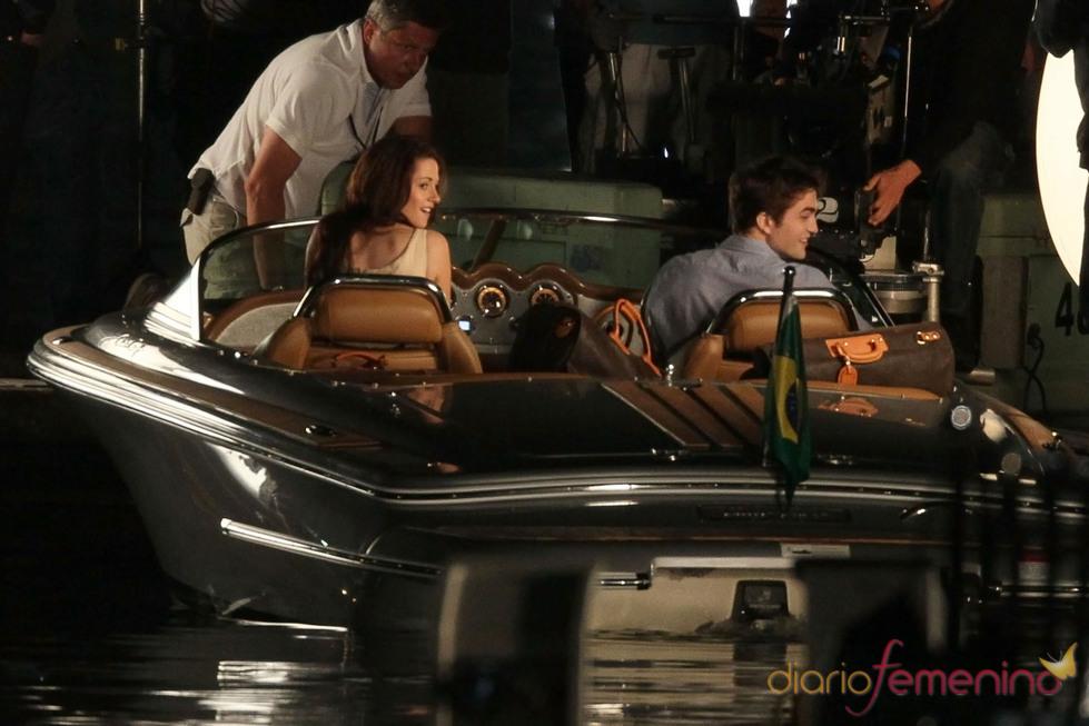 Robert Pattinson y Kristen Stewart en Rio de Janeiro