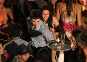 Robert Pattinson y Kristen Stewart se divierten en el rodaje de 'Amanecer'