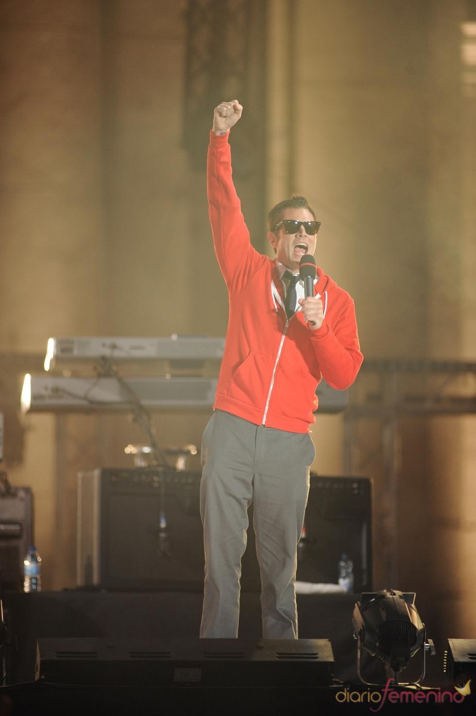 Johnny Knoxville, de Jackass en el escenario del MTV day