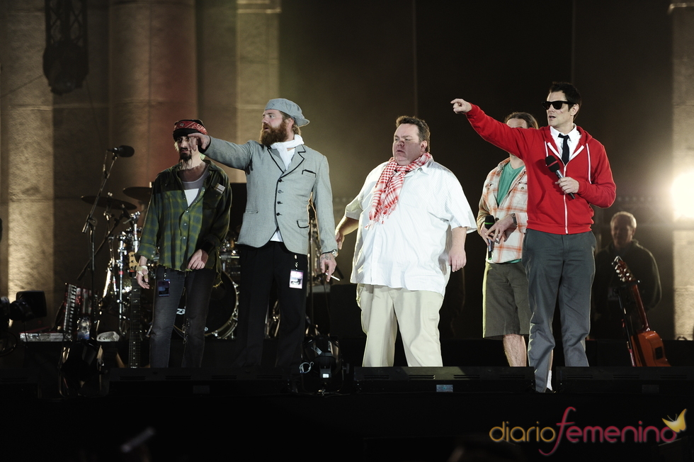 El equipo de Jackass en la gala de la MTV
