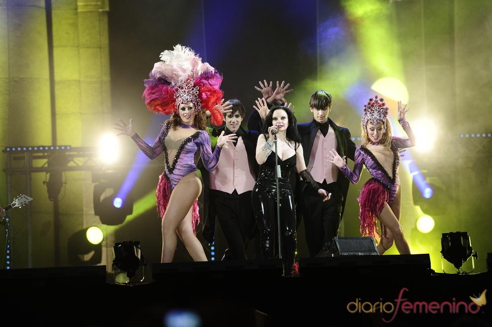 Alaska asistió a la fiesta de los premios europeos de la música
