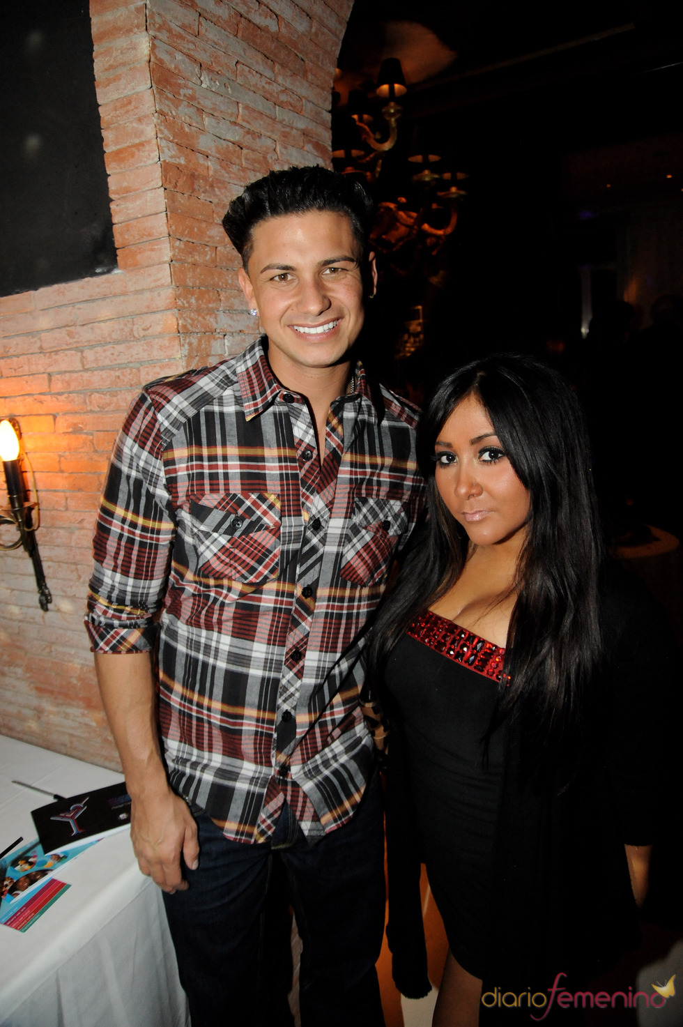 Jersey Shore's Paul 'DJ Pauly D' DelVecchio y Nicole 'Snooki' Polizzi en el MTV day