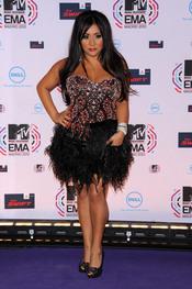 Nicole Polizzi aka Snooki posa en la gala de MTV day