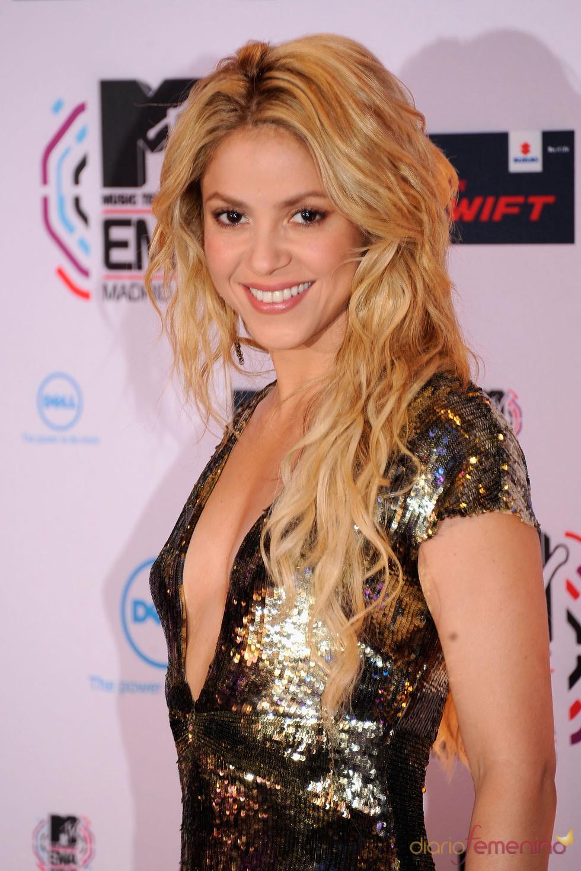 Shakira en la gala de los MTV awards en España