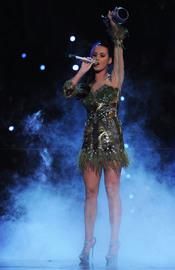 Katy Perry recogiendo el premio al mejor vídeo