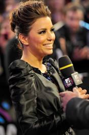 Eva Longoria, coqueta durante los EMAs 2010