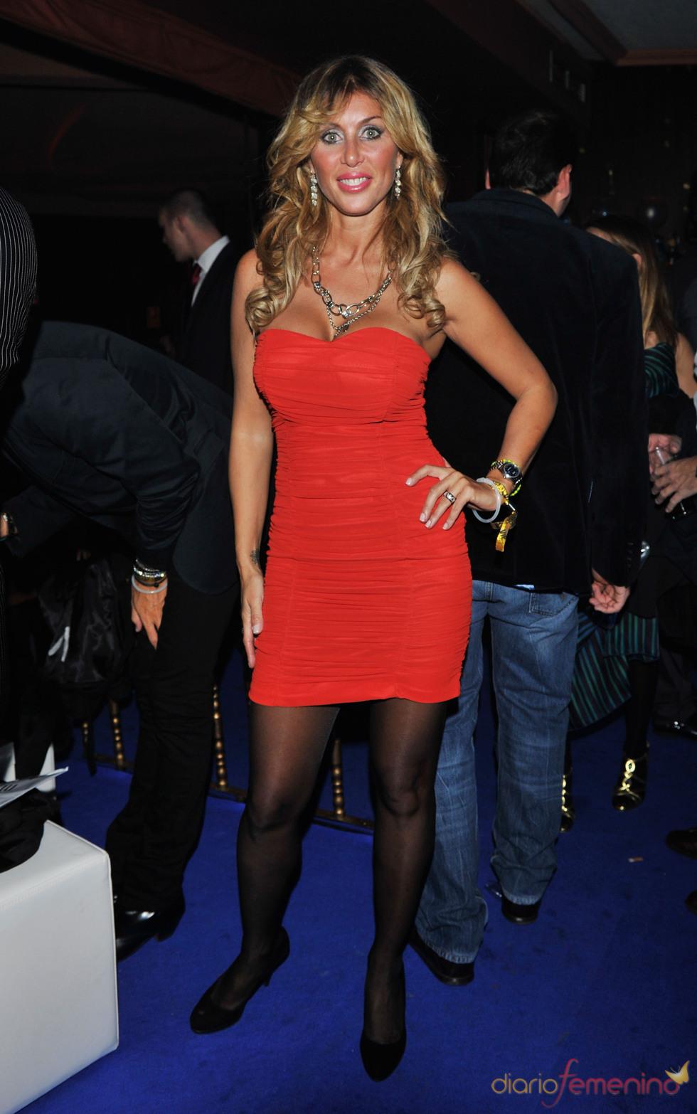 Malena Gracia en la gala de los premios MTV 2010