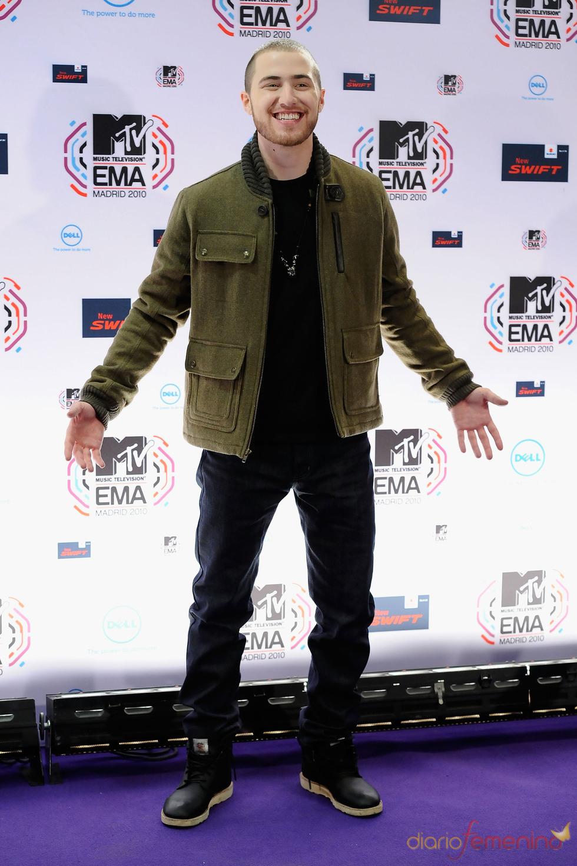 Mike Posner en la ceremonia de los premios europeos de la música