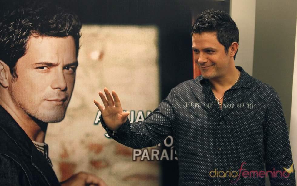 Alejandro Sanz en la presentación de su último disco