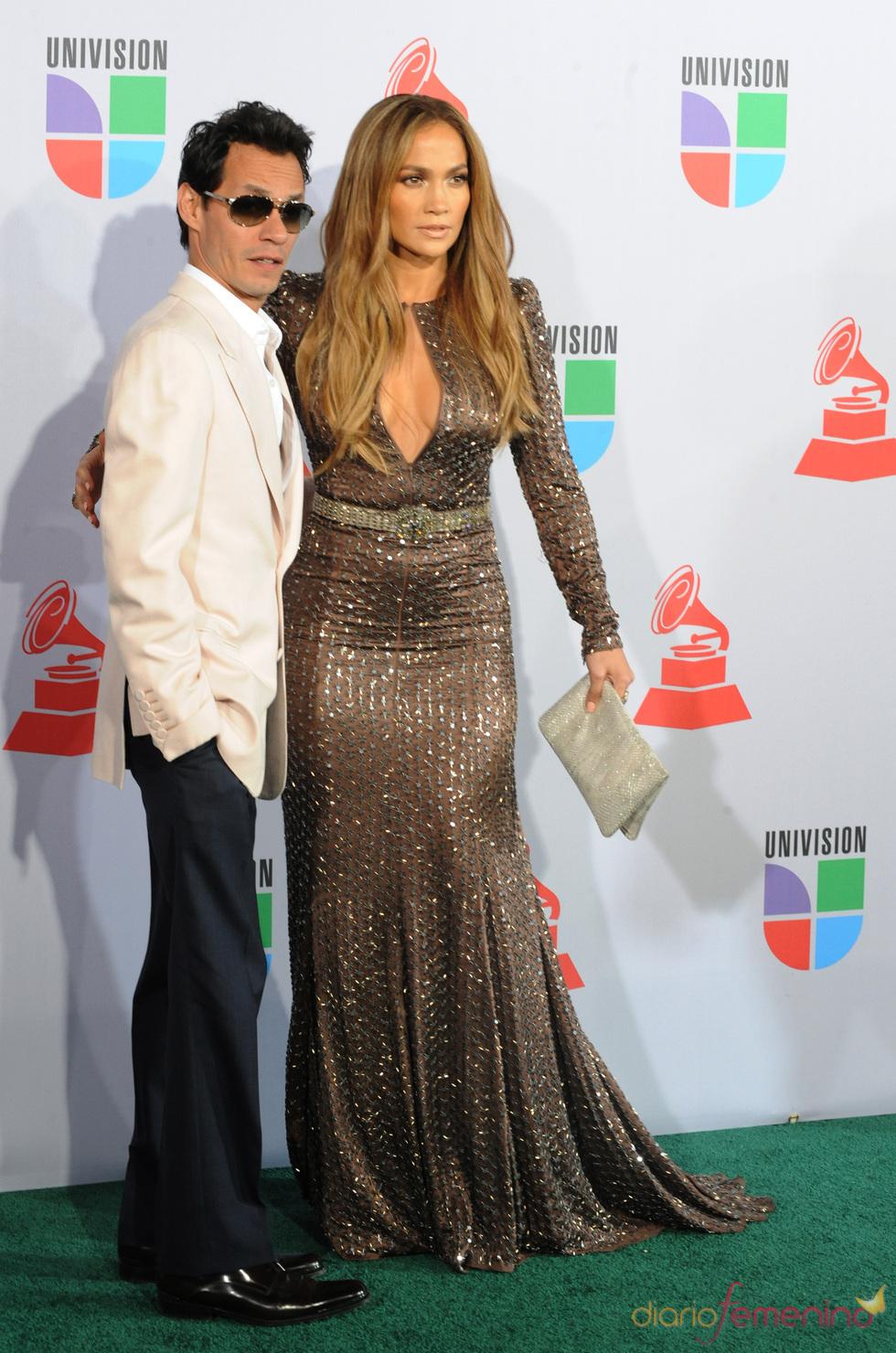 Marc Anthony y Jennifer López en los Grammy Latino 2010