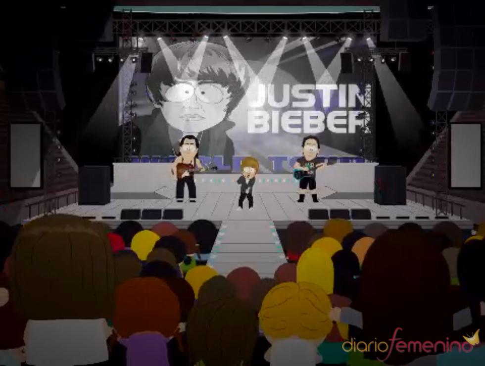 Concierto de Justin Bieber en 'South Park'