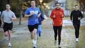 Zapatero haciendo deporte con el primer ministro británico