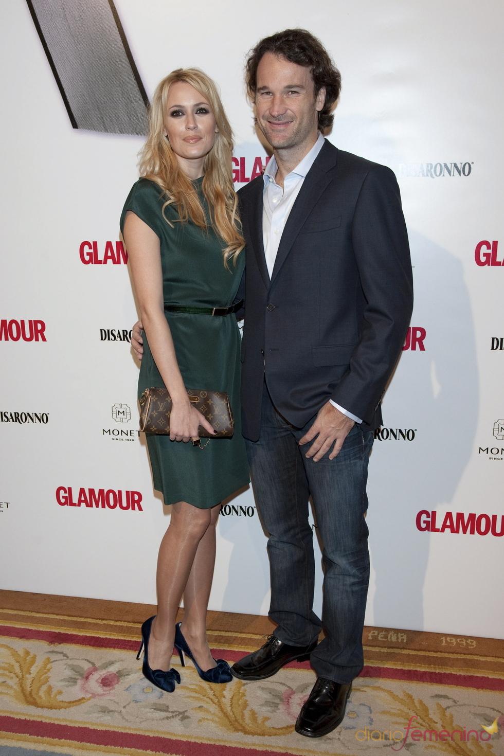 Carolina Cerezuela y Carlos Moyá en los Premios Top Glamour 2010