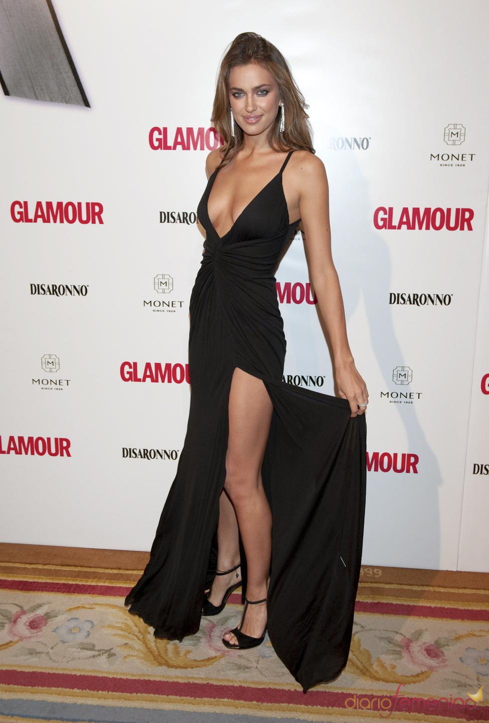 Premios Top Glamour 2010 con Irina Shayk