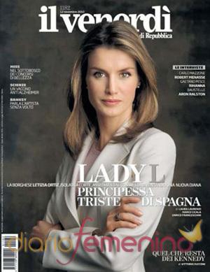 Portada de la revista Il Venerdi de Letizia Ortiz