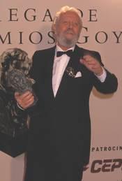 Luis García Berlanga con el Goya