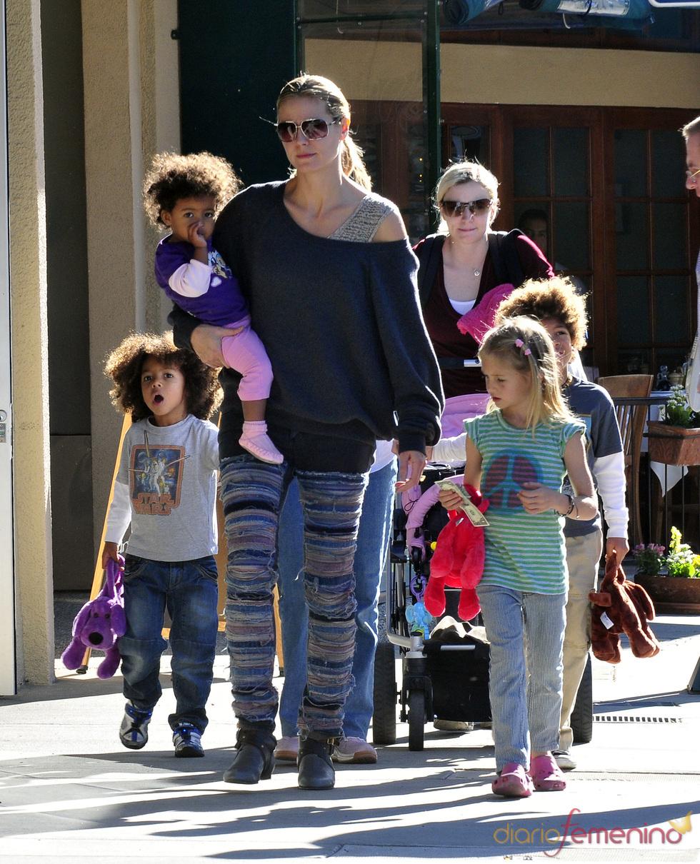 Heidi Klum ejerce de mamá modelo