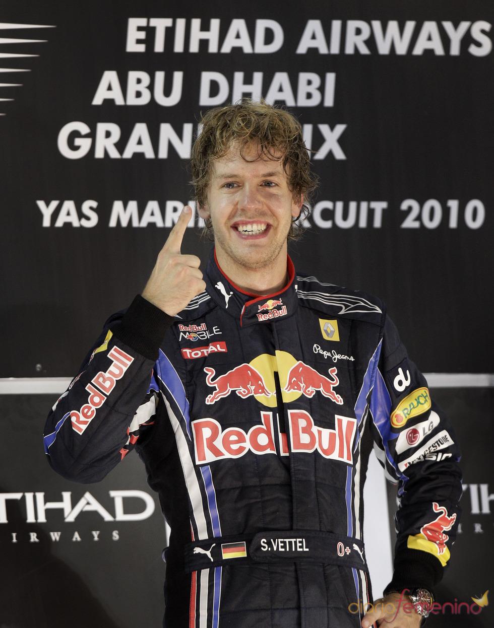 Sebastian Vettel, campeón del mundo de Fórmula 1