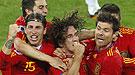 Las mejores imágenes del gol de Puyol contra Alemania