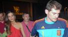 Iker Casillas y Sara Carbonero celebran en un hotel la Copa del Mundo