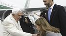 Los Príncipes de Asturias con Benedicto XVI en Santiago de Compostela