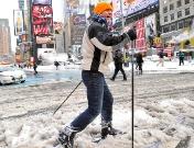 Nueva York afectada por una gigantesca nevada
