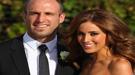 La estrella de fútbol australiano, Chris Judd  y Rebecca Twigley celebran su boda