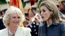 Los Príncipes de Asturias reciben a Carlos de Inglaterra y Camilla Parker Bowles