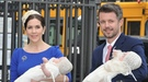 Los príncipes Federico y Mary de Dinamarca bautizan a sus mellizos