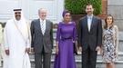 La Familia Real Española recibe al emir de Qatar y su esposa, Mozah