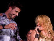 Piqué y Shakira en su concierto en Barcelona
