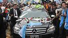 Cristina Fernández en el entierro de Néstor Kirchner en Ríos Gallegos