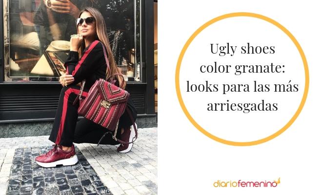 Look arriesgado con ugly shoes: elige el color granate