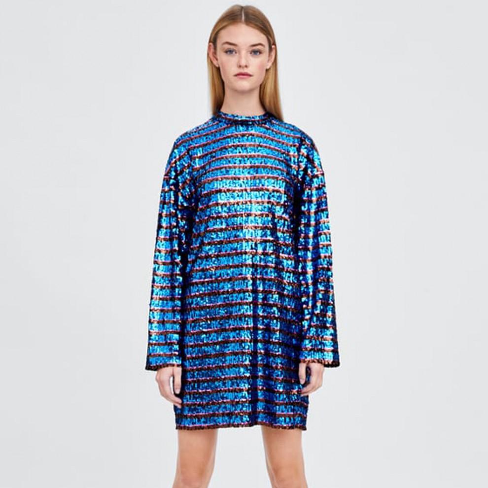 Vestido de Zara para deslumbrar con mucha originalidad