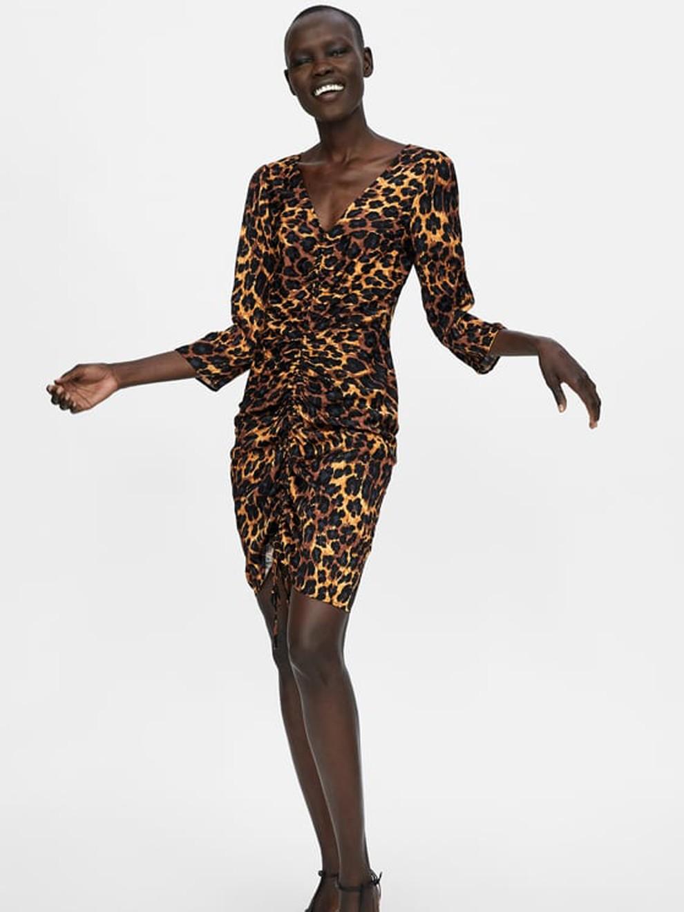 El animal print llega a los vestidos de fiesta de Zara