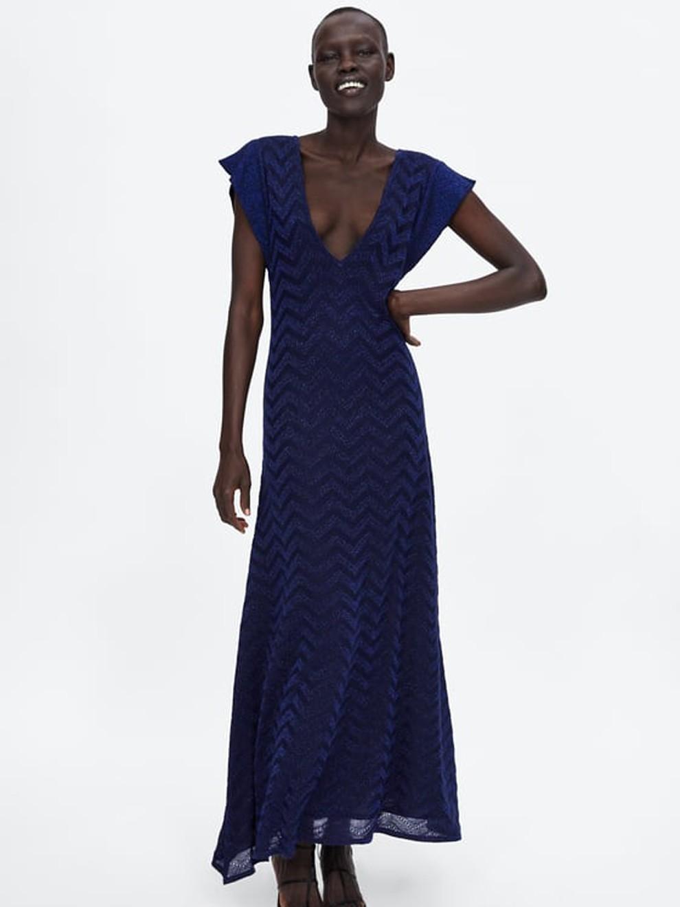 Vestido de fiesta de Zara color azul