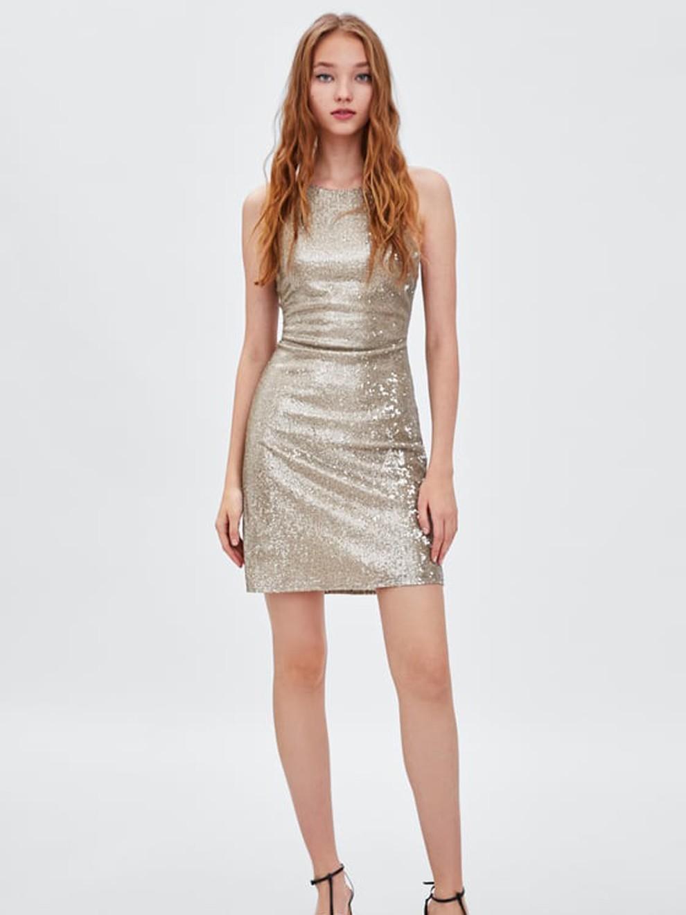 Vestido de fiesta de Zara ideal para Año Nuevo