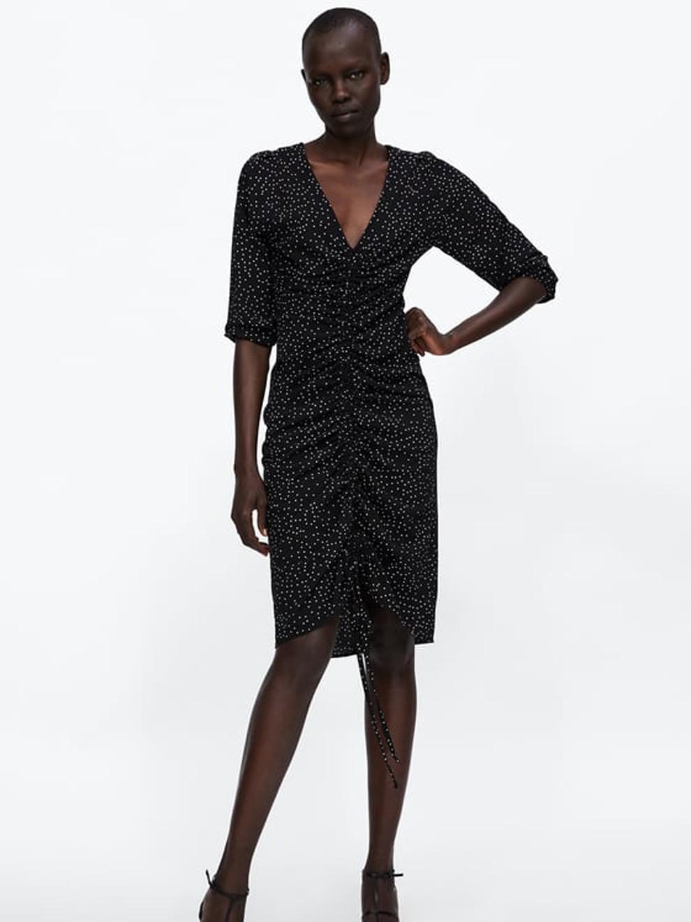 Vestido de lunares de Zara para Nochevieja