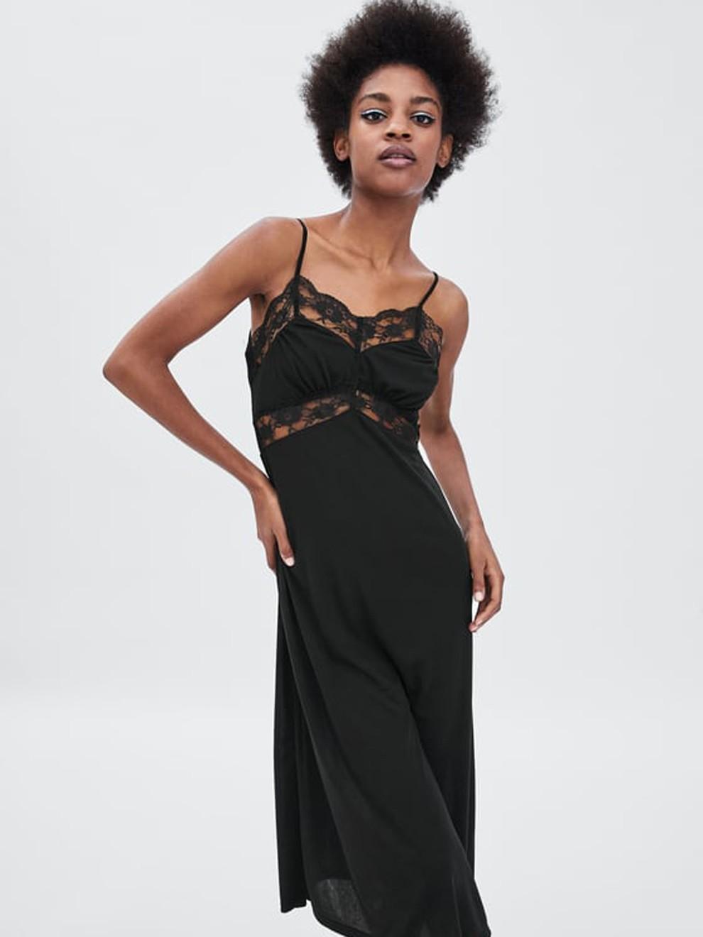 El encaje, todo un clásico con Zara y su vestido