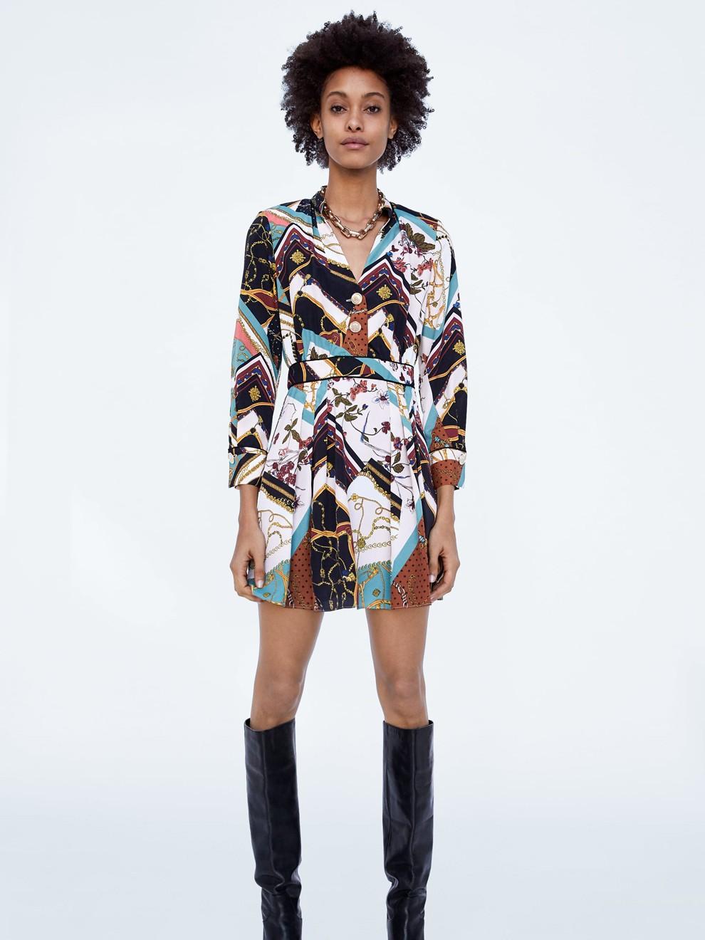 Vestido vintage de Zara perfecto para ir a la oficina en 2019